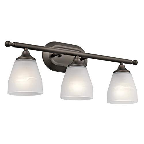 Bathroom Vanity 3 Light Fixtures with Olde Bronze Finish Medium Bulb Type 23