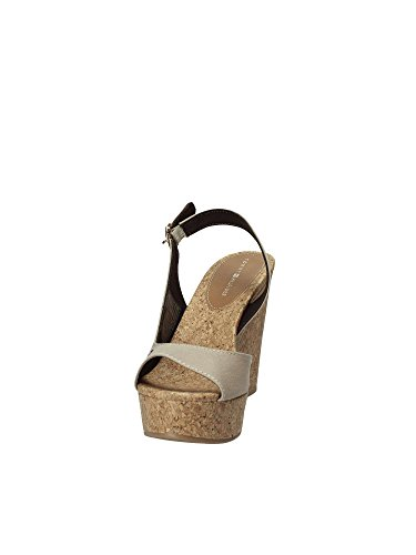 Tommy Hilfiger Damen Wedge With Printed Stripes Espadrilles Grau