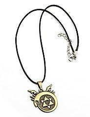 Vastrass Anime Fullmetal Alchemist Necklaces Edwards Pendant Chain Necklace Homunculus Alchemy Logo Snake Cros