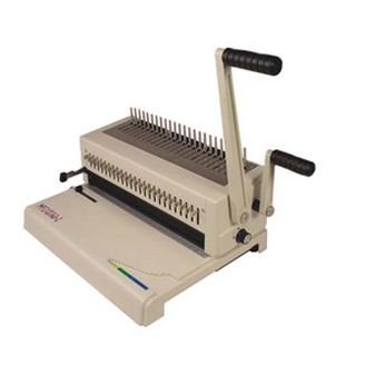 Akiles MegaBind-2 14 Plastic Combs Binding Machine, Punch & Wire Closer for Spiral-O by Akiles