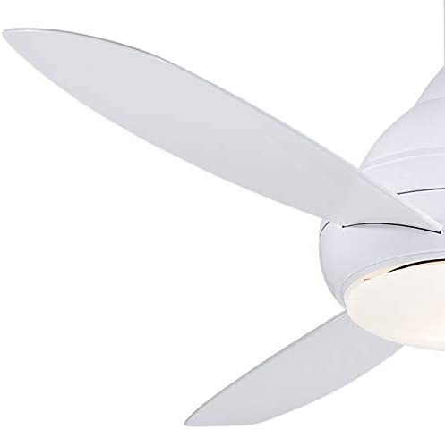 Minka Aire F477l Wh Concept I Wet 58 Inch Outdoor Ceiling Fan With Integrated 14w Led Light In White Finish Amazon Com