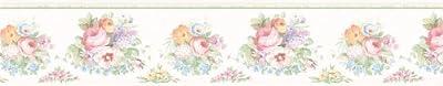 Brewster 414B61890 Vicky Victorian Floral Border Wallpaper