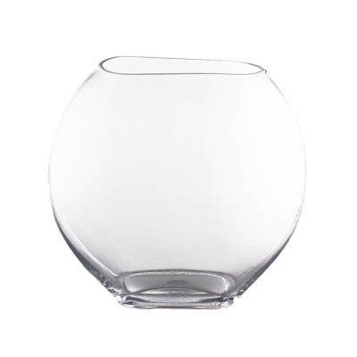 Oval Vase, Moon Shape Glass Vase. H-11