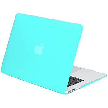 """TOP CASE - Rubberized Hard Case Cover for Macbook Air 13"""" (A1369 and A1466) - Hot Blue"""