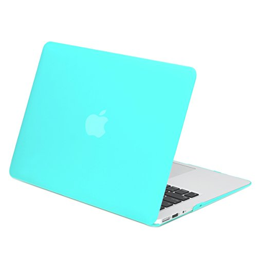 TOP CASE - Rubberized Hard Case Cover Compatible with Apple MacBook Air 13 (A1369 and A1466) - Not Compatible 2018 Version A1932 MacBook Air 13 Retina Display - Hot Blue