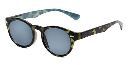 Cougars Green - Readers.com   The St. Paul Reading Sunglasses +2.75 Green Tortoise/Blue with Smoke Round Men's & Women's Full Frame