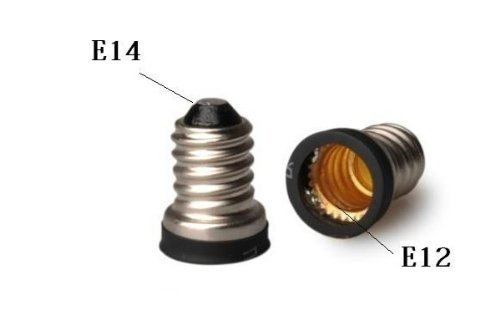 Qishare E14 to E12 Adapter Converter Lamp Adapter (2 PCS)