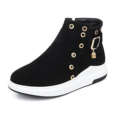 RTRY Women's Shoes Nubuck leather Fall Winter Fashion Boots Bootie Boots Platform Round Toe Booties/Ankle Boots Beading Imitation Pearl Buckle US6.5-7 / EU37 / UK4.5-5 / CN37 q8Pr6BNmp