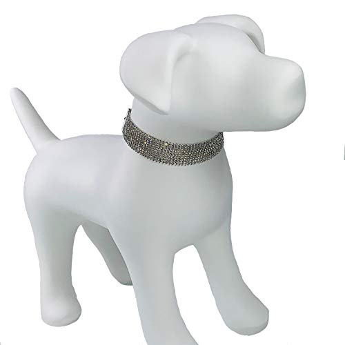 My Other Best Friend (MOBF) Gorgeous Swarovski Crystal 10-Strand Pet Fashion Collar The HRH (His/Her Royal Highness)