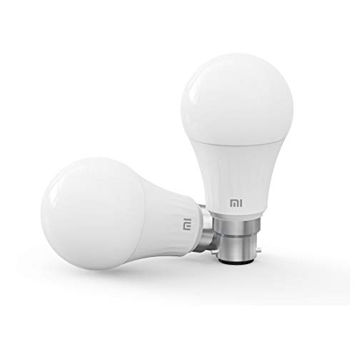 MI Smart LED Bulb with Adjustable Brightness, B22 Base Compatible with Amazon Alexa and Google Assistant (White)
