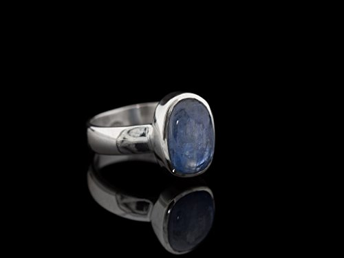 BLUE OVAL KYANITE | Handcrafted ring in Sterling Silver