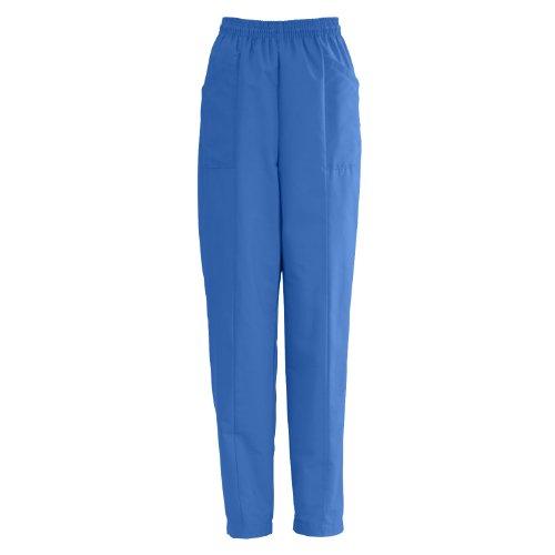 AngelStat Ladies Elastic Waist Slant-Top Pocket Scrub Pants,Sapphire,NHT (Medline Angelstat Ladies Elastic)