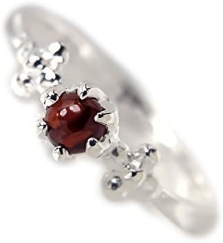 ガーネット リング 指輪 シルバー 925 ピンキー 1月 誕生石 石
