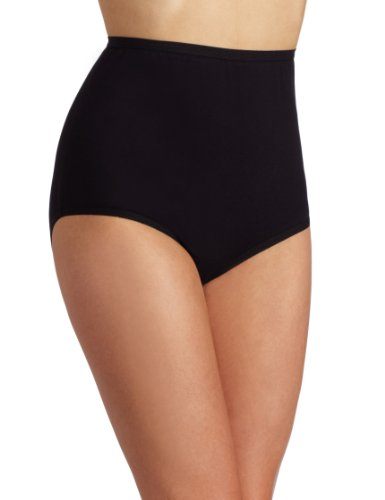 Vanity Fair Women's Perfectly Yours Cotton Brief #15318, Midnight Black, 10