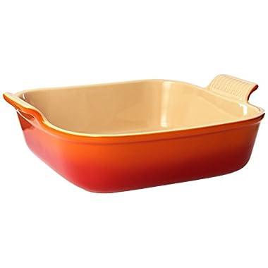 Le Creuset Heritage Stoneware 9  Square  Dish, Flame