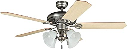 Ellington man52an5c4 manor antique nickel 52 ceiling fan with ellington man52an5c4 manor antique nickel 52quot ceiling fan with light aloadofball Image collections