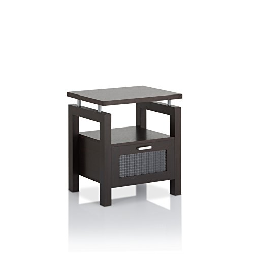 ioHOMES Griffon Modern End Table, Espresso