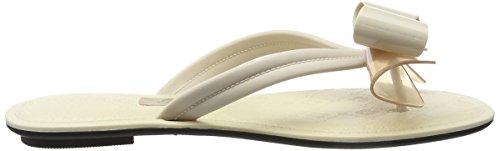 Grendha Sense Bow Thong - Sandalias Mujer Marfil (Vanilla)
