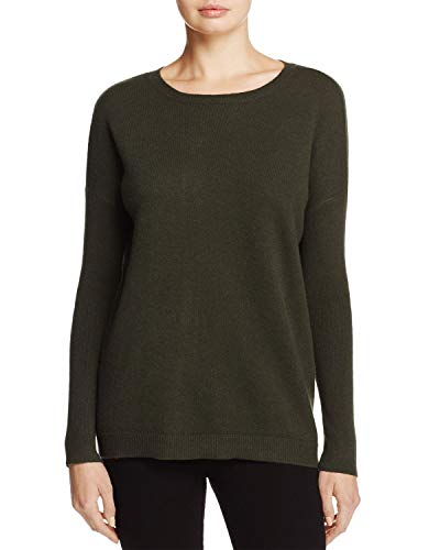 - C by Bloomingdales Womens Cashmere Lace-Up Sweater Loden XS