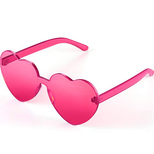 Maxdot Heart Shape Sunglasses Party Sunglasses (Transparent Deep ()