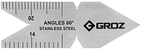 Stainless Steel Flat Gauge GROZ 60-Degree Center Gauge 01211 US Standard