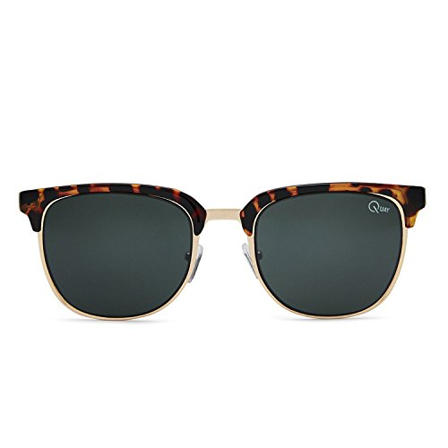 Quay Australia FLINT Men's Sunglasses Retro Accented Brow-Line - - Glasses Retro Australia