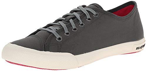SeaVees Women's Army Issue Low Standard Casual Sneaker, Black, 10 M US