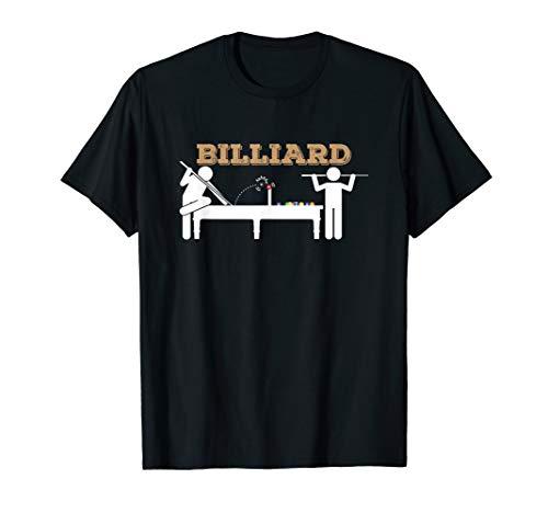 Billiard Pro Players On A Billiard Table Fun Pool T-Shirt