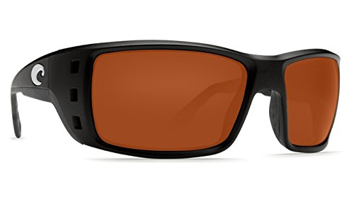 Costa Del Mar Permit 580G Permit, Matte Black Global Fit Copper, - Costa 580 Mar Permit Del