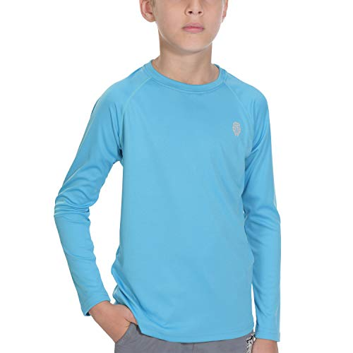 - T-Shirts for Men Rashguard Long Sleeve - Youth UPF 50+ Basic Skins Swim Shirt S