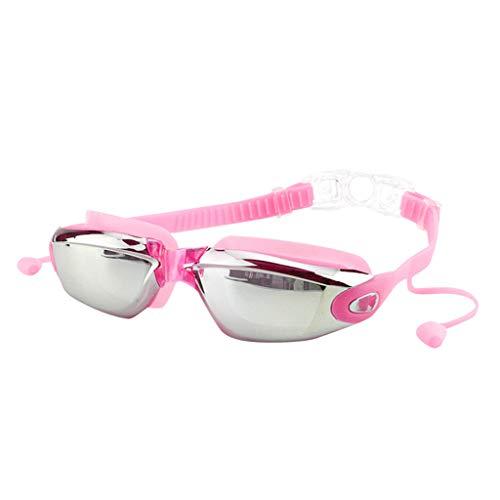 Mysky Non-Fogging Anti UV Swimming Swim Goggle Glasses Adjustable Eye Protect Adult Pink