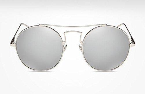 Individual Gafas Ópticas Moda Sun Sol Caja Desplazamiento glasses Colorido Plata De Mercurio Retro chip FAnnUwXqT
