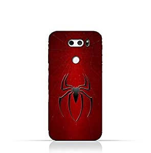 LG V30 TPU Silicone Protective Case with Spider Man Logo Design