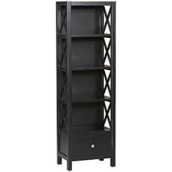 Linon Anna Collection Tall Narrow 5-Shelf Bookcase