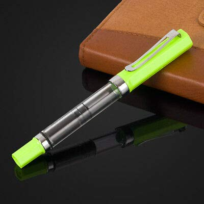 (FidgetGear LANBITOU 3059 Fine Nib Piston Fill Fountain Pen Transparent Pen Green)
