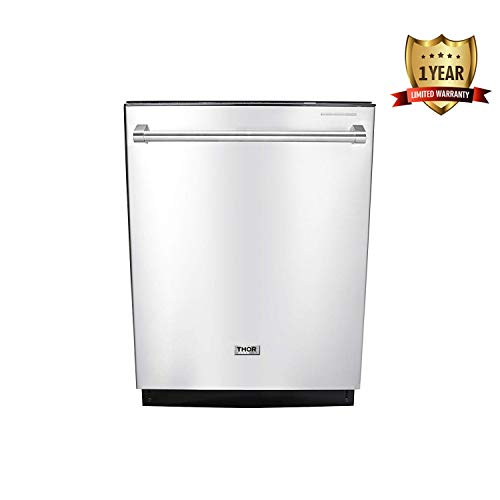 Thor Kitchen HDW2401SS 24″ Built-In Dishwasher, Stainless Steel Kitchen Appliance Smart Washer System HDW2401SS