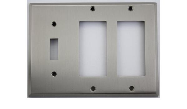 DETA G3318BN gridswitch Nickel Noir Flatplate 2x3G 12 Module Grille Face Plaque
