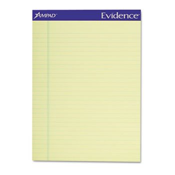 Ampad® Evidence® Recycled Writing Pads PAD,PERF,LTR,CA,50SH,RECY (Pack of4) by Ampad