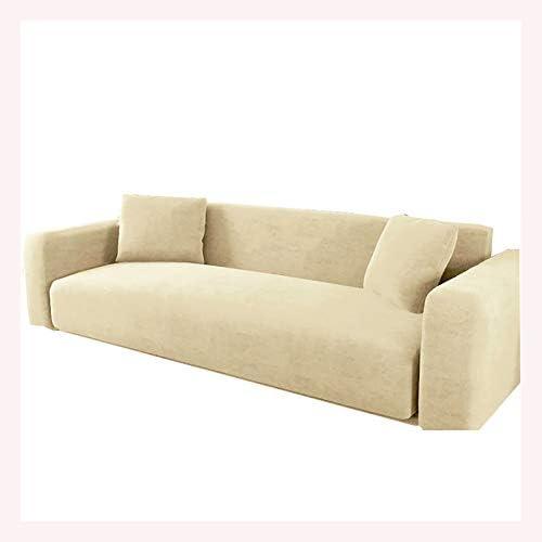 Sofa Cover 1 2 3 4 SeaterStretch Sofa Slipcovers Elastic Fabric Sofa Couch ProtectorAntiSlipMat Stylish Sofa Chair Slipcover for Living RoomBeige 90140cm