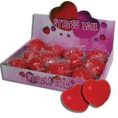 Heart Shaped Stress Balls-12 Pack -