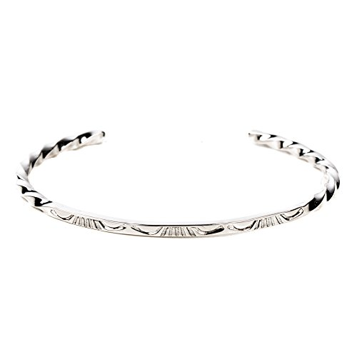 TSKIES Authentic Native American Women's Bracelet Handmade Twisted Sterling Silver .925 - Bracelet Navajo Sterling