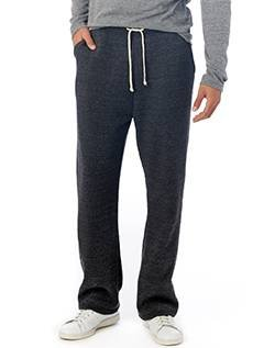 Fleece T-shirt Sweatpants - Alternative Men's Eco Fleece The Hustle Open Bottom Sweatpants Eco Black Pants XL