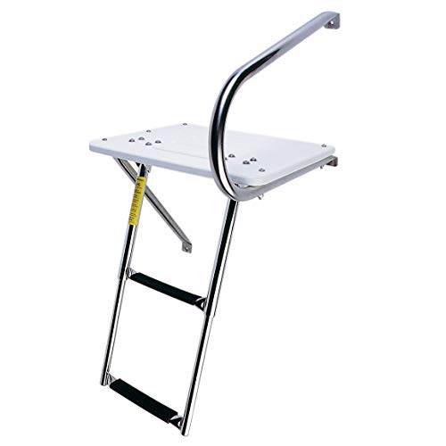 Garelick/Eez-In 19536:01 Combo Outboard Transom Platform/Telescopic Ladder