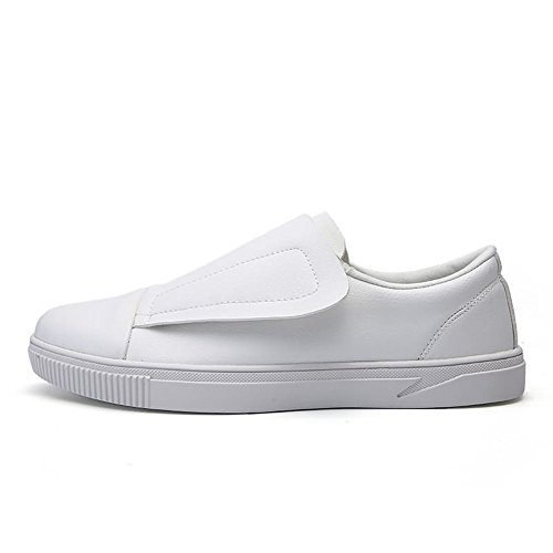 The para recreativa Blanco Loafer Color White Hombres Build para Black Un Mocasines Hongjun 44 2018 EU Shoe Moda Zapatos Tide para Hombre tamaño 100 shoes Pedal Patineta Pedals Zapatos and de qvgAwzaR