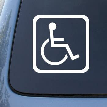 Handicapped sign car truck notebook vinyl decal sticker 2305 vinyl