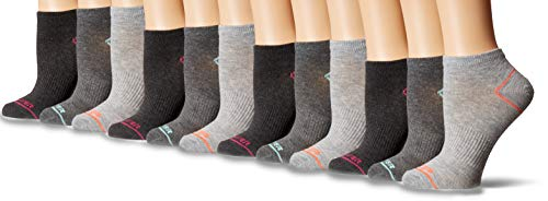 Pro Player Apparel - Pro Player ProPlayer Women's 12 Pack No Show Socks, grey, 9-11