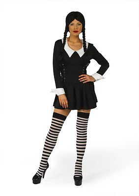 Sofias Closet Womens Creepy mercoledì Addams Fancy Dress
