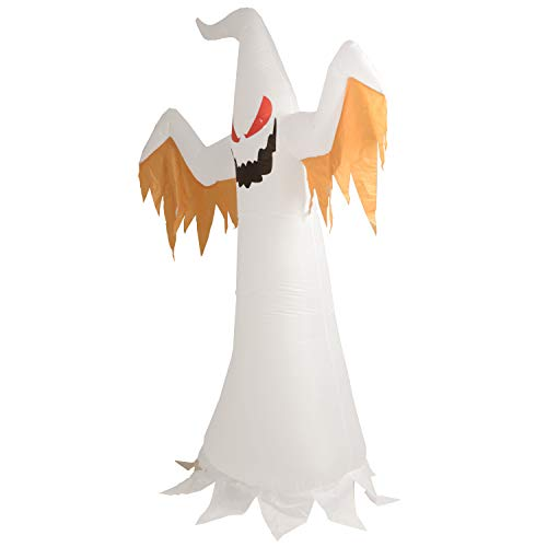 Phoenixreal 8 Foot Halloween Inflatable Air Blown White Ghost with Red Eye Lighted for Home Yard Garden Indoor and Outdoor Decoration by Phoenixreal (Image #3)