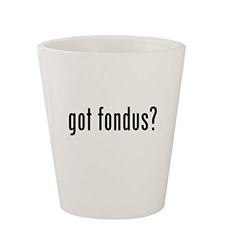 got fondus? - Ceramic White 1.5oz Shot Glass