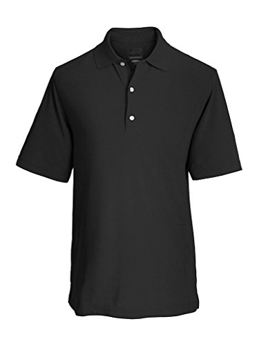 Greg Norman Collection Men's Protek Micro Pique Polo Shirt, Black, XX-Large (Shark Golf Clothing)